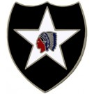 2nd Infantry Div Small Hat Pin