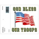 God Bless Our Troops Decal