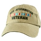 Iraq Afghanistan Veteran Embroidered Cap