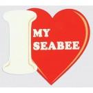 I Love My Seabee Decal