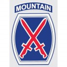 10th Mountain Decal