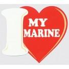 I Love My Marine Decal