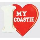 I Love My Coastie Decal