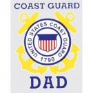 Coast Guard Dad Decal
