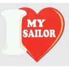 I Love My Sailor Decal