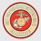 My Granddaughter is a Marine Decal