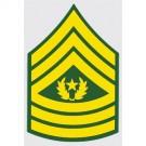 U.S. Army E-9 Cmnd Sgt. Major Decal