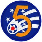 5th Air Force Patch/Small