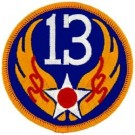 13th Air Force Patch/Small