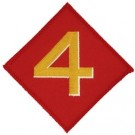 4th Marine Div Patch/Small