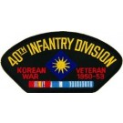 Korea 40th Inf Vet Patch/Small