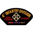 Iraq 4th Inf Vet Patch/Small