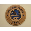 Welcome to our Camp Plaque