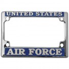 Air Force Motorcycle Chrome License Plate Frame