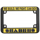 Seabees Plastic Motorcycle Plastic License Plate Frame