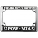 POW MIA Metal Motorcycle License Plate Frame