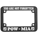 POW MIA Motorcycle Plastic License Plate Frame
