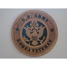 US Army Veteran Korea Plaque