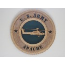 US Army Helicopter Apache Plaque