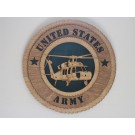 US Army Helicopter Black Hawk Plaque