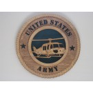 US Army Helicopter Huey Plaque