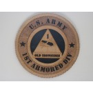 US Army 1st Armored Old Ironsides Plaque