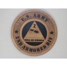 US Army 2nd Armored Hell on Wheels Plaque