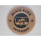 US Army Helicopter Black Hawk Squadron Plaque
