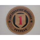 1st Infantry Division Veteran Plaque