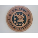 US Army Military Intelligence 221st Bn Plaque