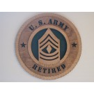 US Army 1st Sergeant Retired Plaque