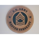 US Army Master Sergeant Plaque