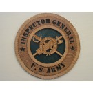 US Army Inspector General Plaque