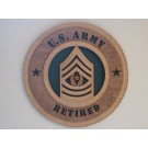 US Army Command Sergeant Major Retired Plaque