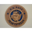 US Navy Veteran Iraq Plaque