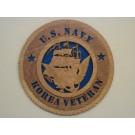 US Navy Veteran Korea Plaque