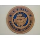 US Navy Veteran World War II Plaque