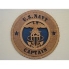 US Navy Captain Plaque