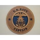 US Navy Captain Plaque