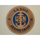 US Navy Senior Chief Plaque