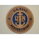 US Navy Senior Chief Plaque