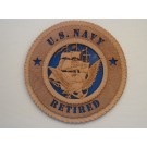 US Navy Retired Plaque