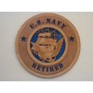 US Navy Retired Plaque