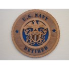 US Navy Retired Officer Plaque