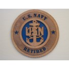 US Navy Retired Chief Plaque