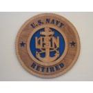 US Navy Retired Senior Chief Plaque
