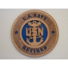US Navy Retired Master Chief Plaque