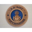 US Navy Tin Can Sailor Plaque