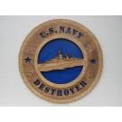 US Navy Destroyer Plaque