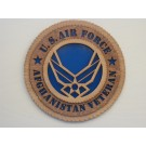 US Air Force Veteran Afghanistan Plaque